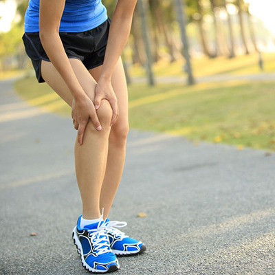 A runner with knee pain